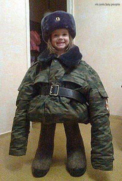 Вот, что значит офицерская дочка:)