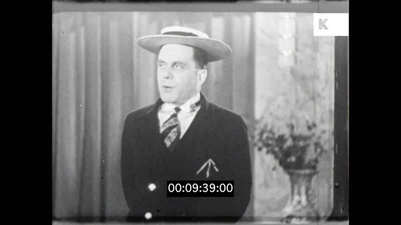 1930s Stand Up Comedy, Gillie Potter, UK, HD
