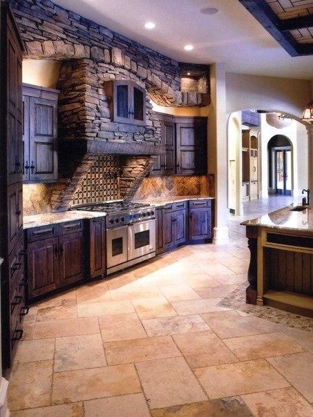 Необычный дизайн кухни.
