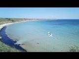 Привет песчаного пляжа западного Крыма! здесь снимали фильм