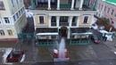 В Днепре у входа в ресторан Артист бил 10 метровый фонтан воды