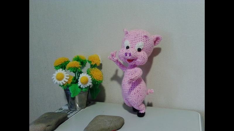 Поросенок Порки, ч.2. Porky pig, р.2. Amigurumi. Crochet. Амигуруми. Игрушки крючком.