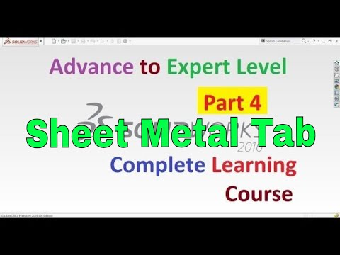 SolidWorks Complete Learning Course Step by Step | Part 4 | Sheet Metal Tab