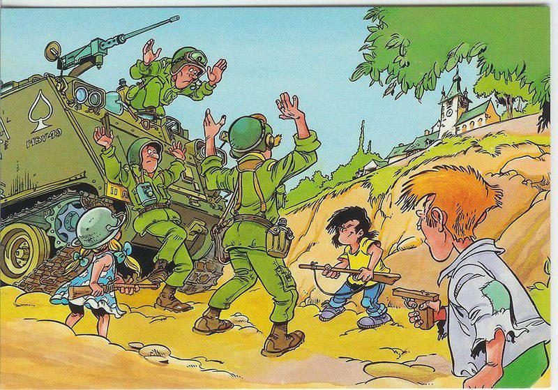 Прикольный рисунок военного