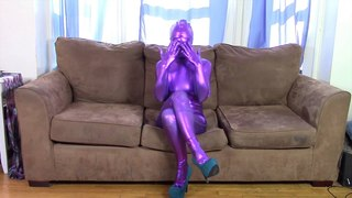 Leila Explains what a Zentai Suit is while wearing one