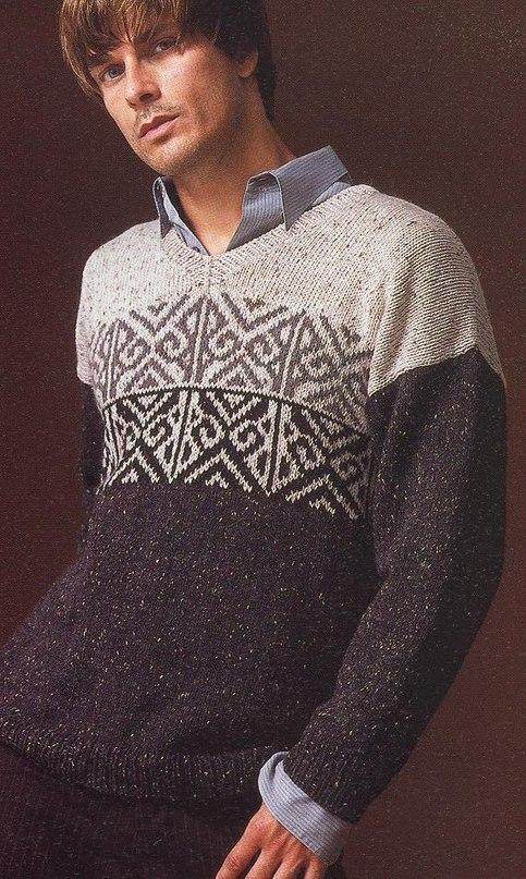 Узоры на свитерах мужчин фото