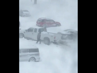 Plow gets stuck in snow during Halifax