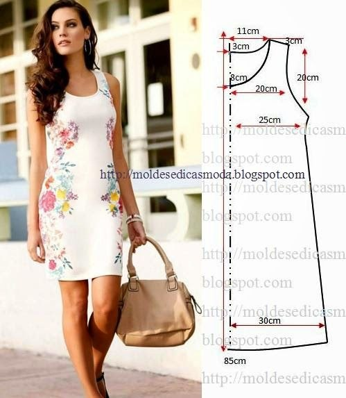 Выкройка платья в стиле туники