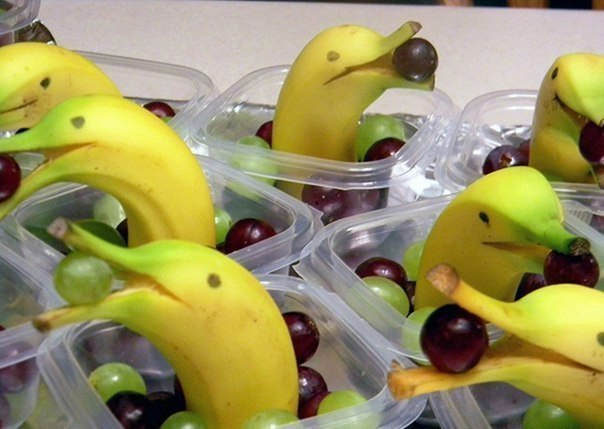 Креативная подача фруктов