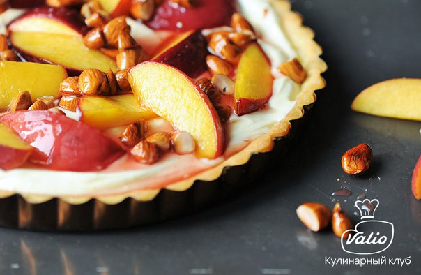 🍮 Пирог с персиками