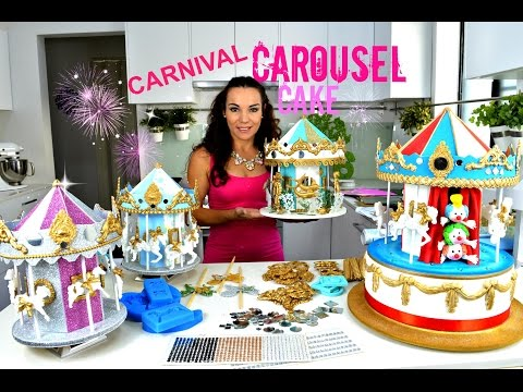 STUNNING CAROUSEL CAKE OR CAKE TOPPER | THEY REALLY TURN HAVE MUSIC | BY VERUSCA WALKER
