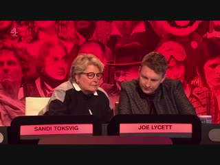 The big fat quiz of everything 2019 - david baddiel, joe lycett, big narstie, katherine ryan, frank skinner, sandi toksvig