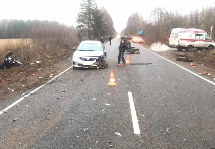 На 11-ом км автодороги Кимры – Клетино – Дубна произошло ДТП с пострадавшим