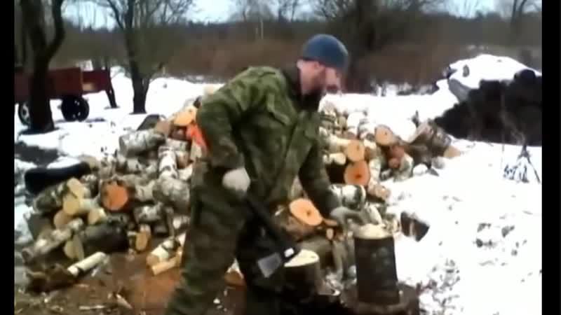 Деревенский лайфхак для колки дров