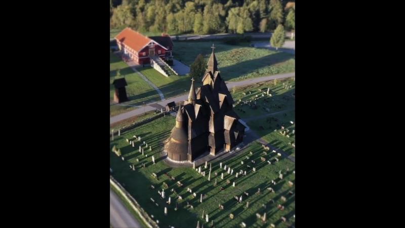 Тысячелетняя церковь Норвегии Heddal stave church