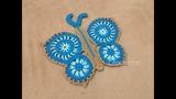 Tapete Borboleta Azul croch