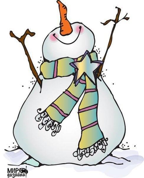 Забавные снеговички. (6 фото) - картинка