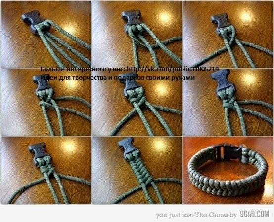 Сплести браслет для мужчины своими руками