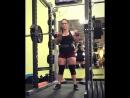 Аманда Лоуренс - присед 184 кг на 4