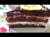 Торт Шоколадно - Лимонный или Птичье Молоко с кремом на манке
