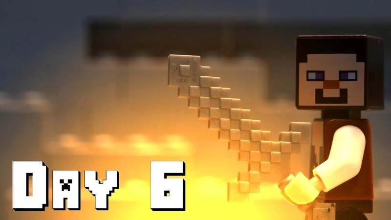 LEGO Minecraft Survival Day 6 Stop Motion Animation