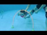 Полина. Видеосъёмка подводного плавания в Детском бассейне Ямайка (Тамбов)