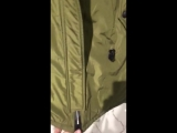 куртка хаки с мехом фуксия