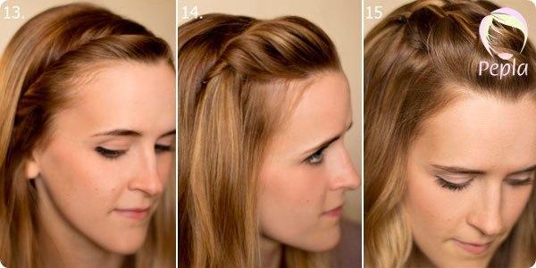 Причёска с отросшей чёлкой