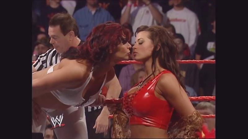 Trish Stratus Torrie Wilson vs. Candice Michelle Victoria: Raw, Mar. 27, 2006