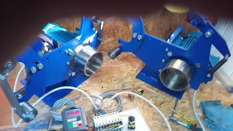 Устройство подключения двух станков к одному частотному преобразователю