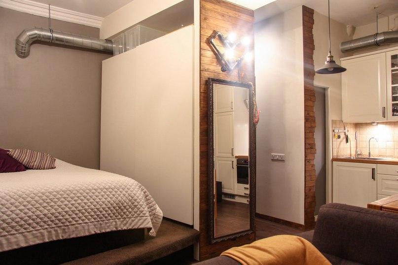 Маленькая квартира с высокими потолками почти 3 м, площадь 29 кв.