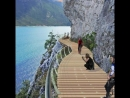 Check out the new bike path being built alongside Lake Garda