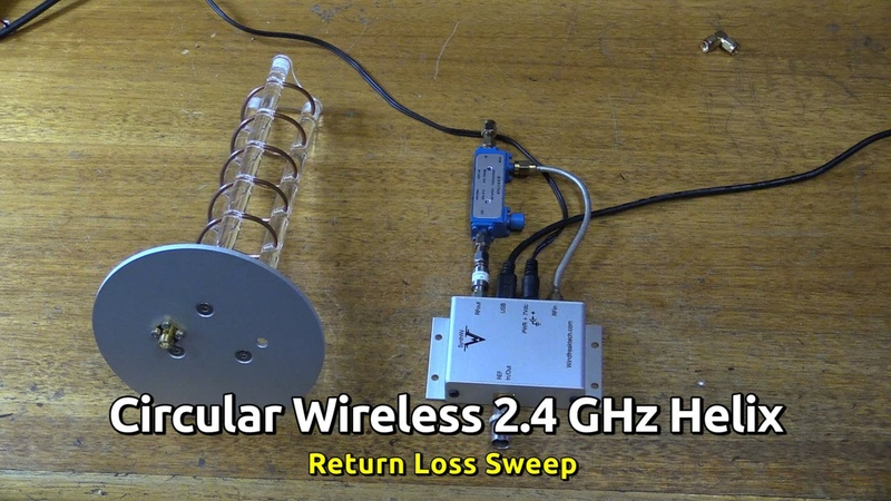 Circular Wireless 2.4 GHz Helical Retrun Loss Sweep