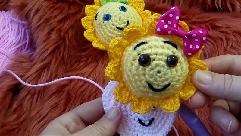 GÜNEŞ ANAHTARLIK ÖRÜYORUZ.Sun crochet