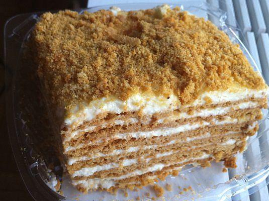 Сметанный торт с фото