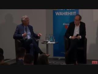 AfD-Diskussion - Beim UN-Migrationspakt stellen sich Kai Gniffke -ARD- und Peter Frey  -ZDF- dumm
