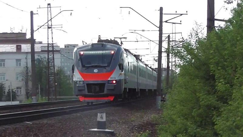 Электропоезд ЭП2Д 0024 ЦППК Кремлевские курсанты