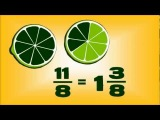 Fruit Fractions -- animated maths lesson