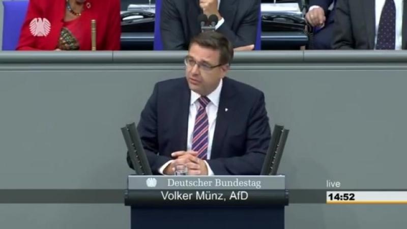 Volker Münz AfD- -Hören sie doch auf andauernd dazwischen zu quatschen- 13-09-2018