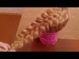 Коса из пяти прядей на изнанку