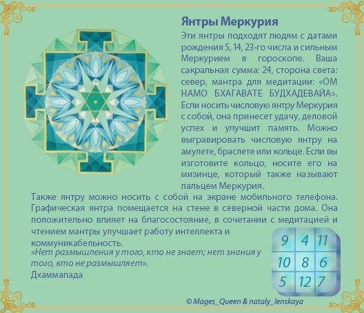 Янтра Меркурия