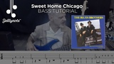 Sweet Home Chicago by The Blues Brothers - Bass tutorial (Jellynote Lesson)