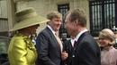 Arrivée du couple royal néerlandais à Luxembourg
