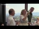 Nach dem Tanz mit der Braut Putin gratuliert auf deutsch