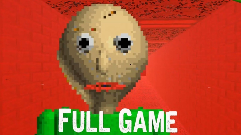 Baldi's Basics in Education and Learning Full Game ENDING Gameplay (Free indie horror Game)