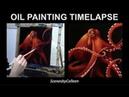 Timelapse Oil Painting - Orange Octopus