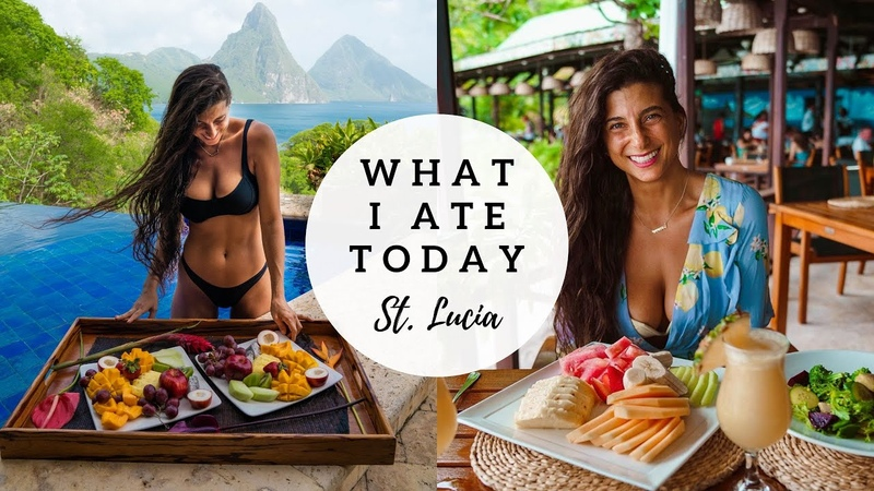 WHAT I ATE TODAY Raw Vegan in St Lucia