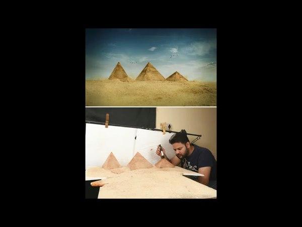 Ватсал Катария из Индии в своей студии воссоздает потрясающие пейзажи