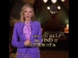 Do you like riddles The answer to this one is hiding in plain sight. See Cate Blanchett an