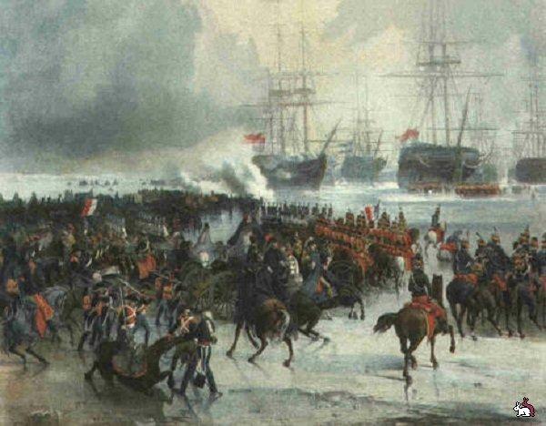 Кавалерийская атака на флот противника